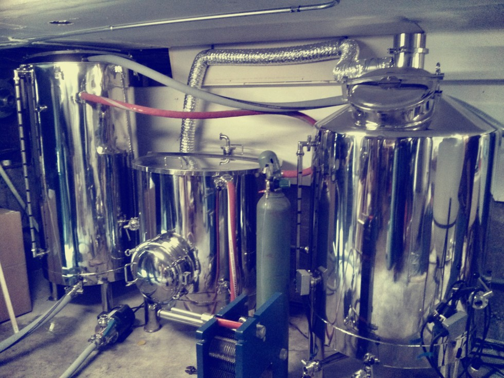Brewing on new 3.5 bbl system!
